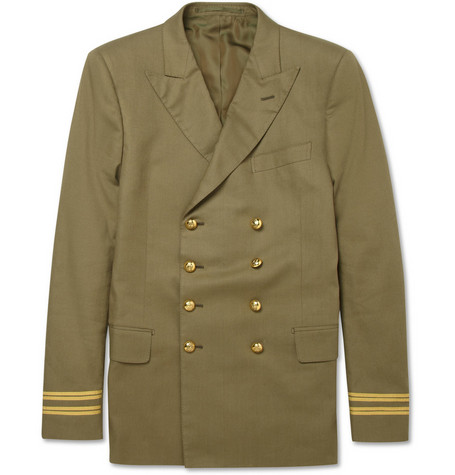 Simon Spurr Military-Style Double-Breasted Jacket