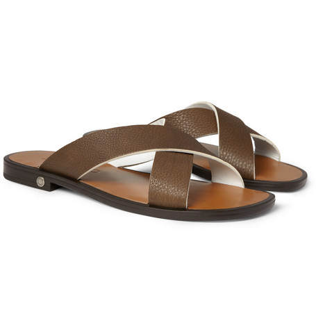 Jimmy Choo Onslow Leather Strap Sandals