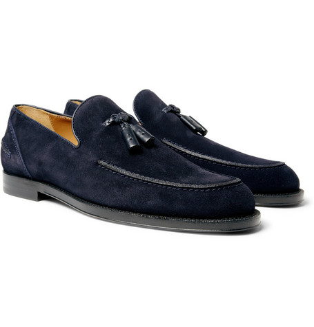 Jimmy Choo Hamilton Tasselled Suede Loafers