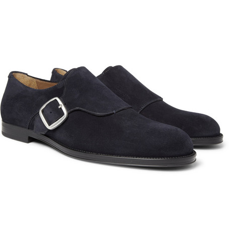 Jimmy Choo Holborn Suede Monk-Strap Shoes