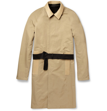 Balenciaga Reversible Cotton-Blend and Leather Trench Coat