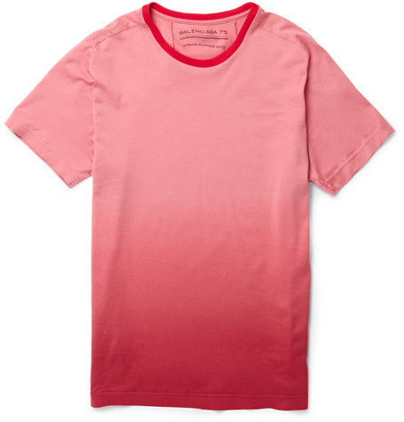 Balenciaga Ombre-effect Cotton-Jersey T-shirt