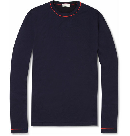 Balenciaga Panelled Knitted-Cotton Sweater