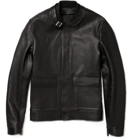 Balenciaga Textured-Leather Jacket
