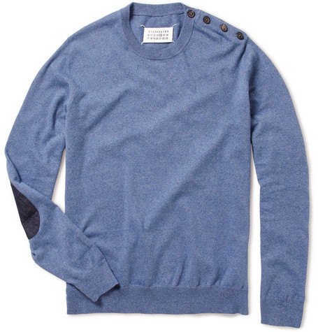 Maison Martin Margiela Denim Detail Cotton Sweater