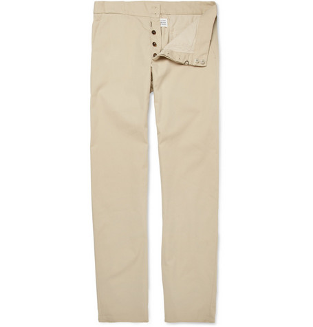 Maison Martin Margiela Anatomic Straight-Leg Cotton-Twill Trousers