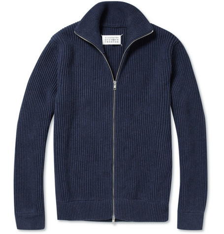 Maison Martin Margiela Trucker Zip-Up Cotton Cardigan