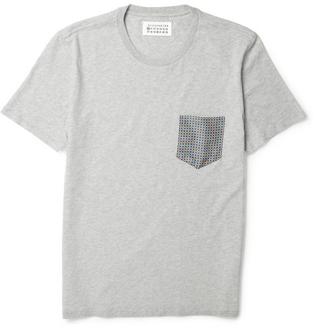 Maison Martin Margiela Cotton and Silk T-shirt
