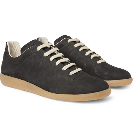 Maison Martin Margiela Lace-Up Suede Sneakers