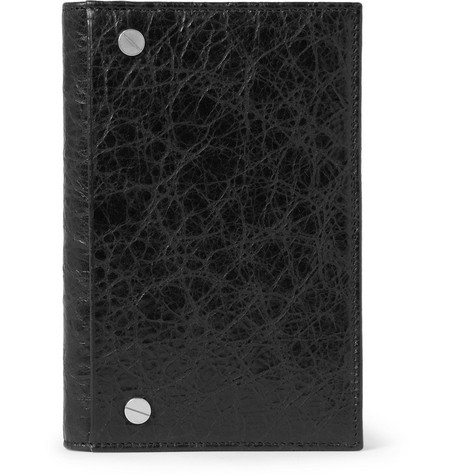 Balenciaga Textured-Leather Passport Cover