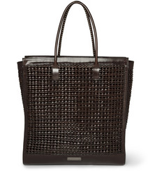 Burberry Prorsum Woven Leather Tote