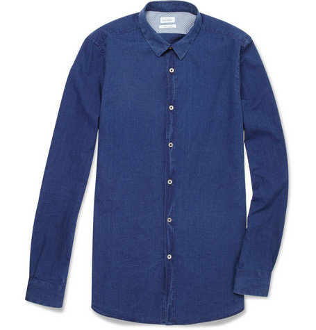 Paul Smith Slim-Fit Cotton-Chambray Shirt