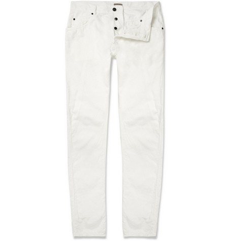 Bottega Veneta Slim-Fit Cotton-Corduroy Trousers