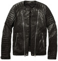 Balmain - Zipped Padded Leather Biker Jacket