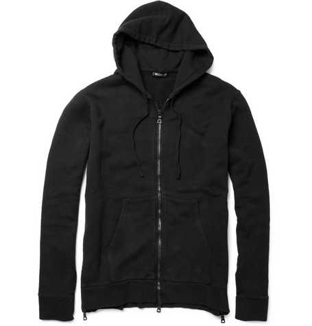 Balmain Cotton Zip Up Hoodie