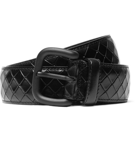 Bottega Veneta Wide Intrecciato-Effect Leather Belt
