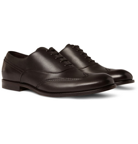 Bottega Veneta Wingtip Leather Oxford Shoes