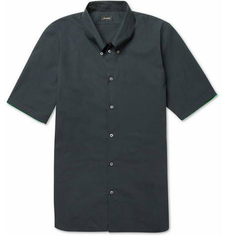 Jil Sander Contrast-Trim Slim-Fit Cotton Shirt