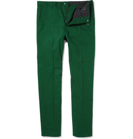Jil Sander Cotton-Blend Piqué Trousers