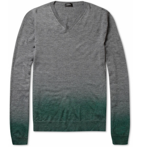 Jil Sander Degradé Silk and Cashmere-Blend Sweater