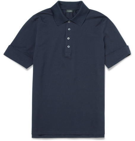 Jil Sander Cotton-Piqué Polo Shirt