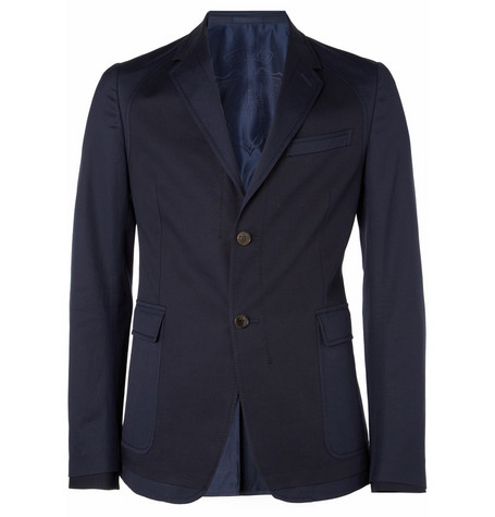 Gucci Panelled Slim-Fit Cotton-Blend Blazer