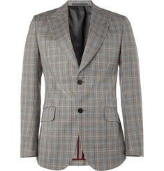 Gucci Prince of Wales Check Cotton-Blend Blazer