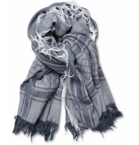 Gucci Fringed Cotton Scarf