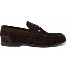 Gucci Suede Penny Loafers