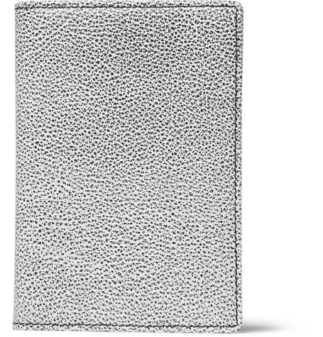 WANT Les Essentiels de la Vie Pearson Textured Leather Passport Cover