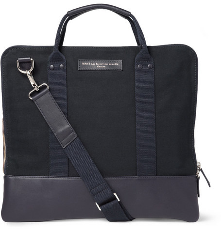 WANT Les Essentiels de la Vie Heathrow Cotton-Canvas Messenger Bag