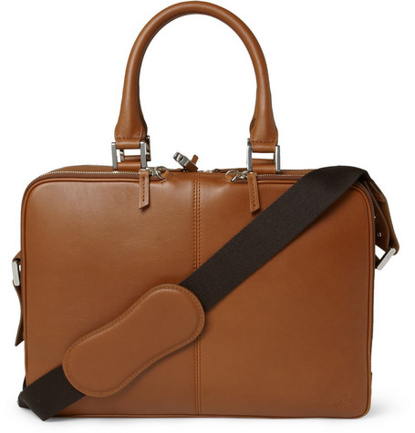 WANT Les Essentiels de la Vie Trudeau Leather Briefcase