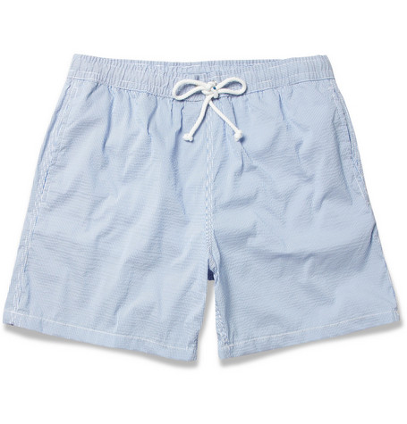 Hartford Mid-Length Seersucker Swim Shorts