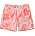 Hartford Mid-Length Flower-Print Swim Shorts