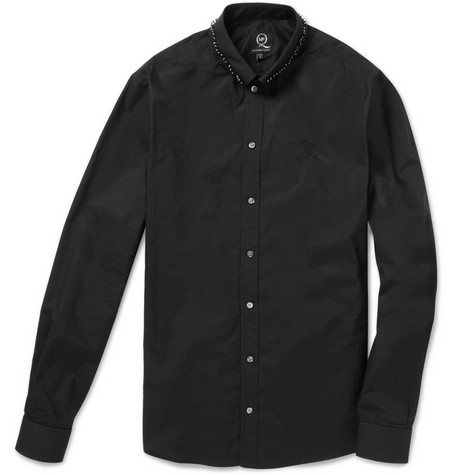McQ Alexander McQueen Slim-Fit Safety Pin Collar Shirt