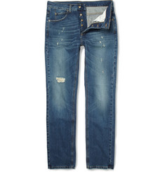 McQ Alexander McQueen<br /> Distressed Straight-Leg Jeans