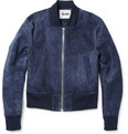 Acne Studios - McKenzie Suede Cropped Bomber Jacket