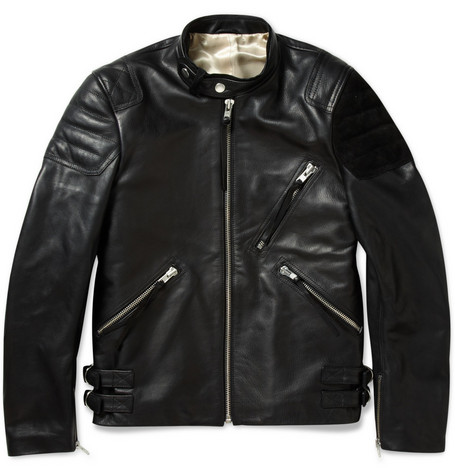 Acne Oliver Leather and Suede Biker Jacket