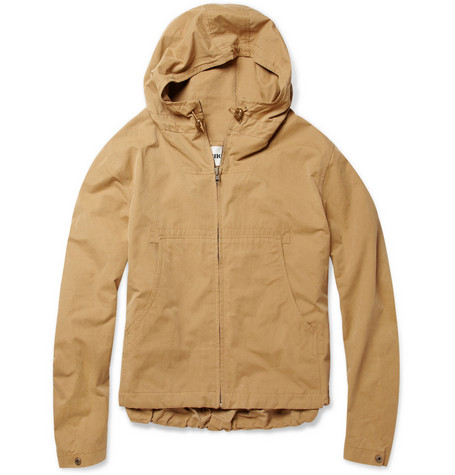 Acne Matteo Lite Hooded Brushed-Poplin Parka Jacket