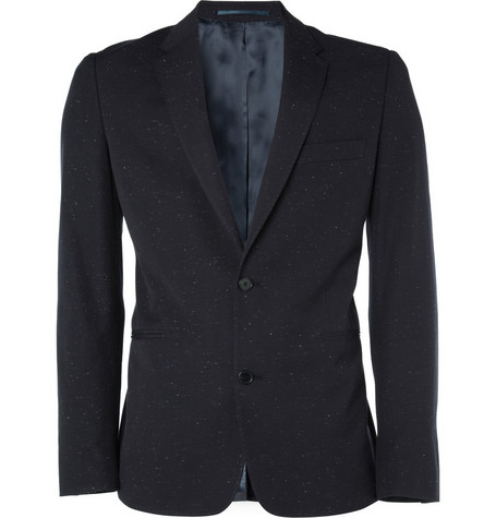 Acne Studios Jet Flecked Cotton Blazer