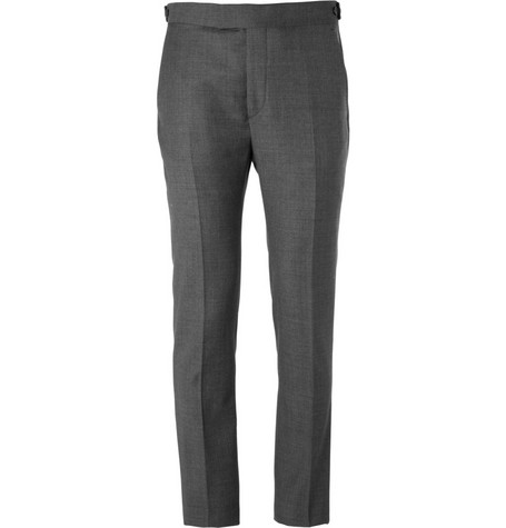 Acne Wall Street Slim-Fit Sharkskin Wool Suit Trousers