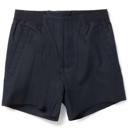Acne Lad Slim-Fit Stretch Cotton Piqué Shorts