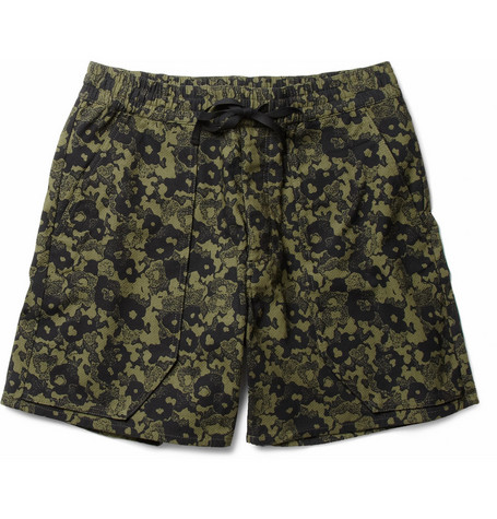 Acne Scout Printed Textured-Cotton Shorts