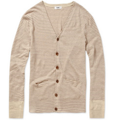 Acne Douglas Linen Striped Cardigan