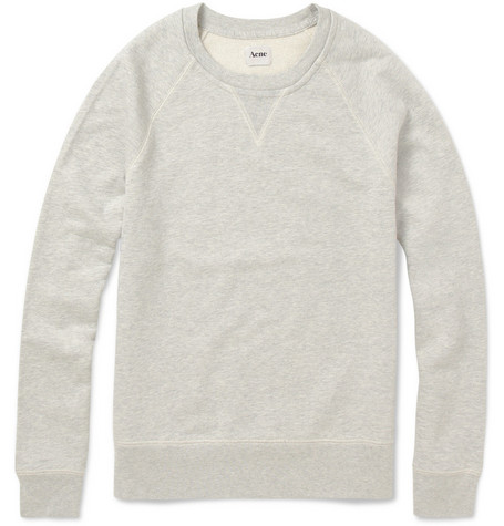 Acne College Crew Neck Cotton Sweatshirt