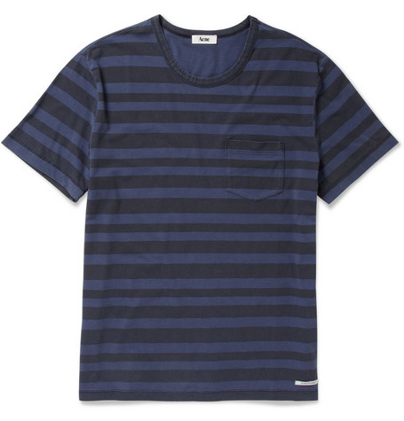 Acne Striped Cotton T-shirt