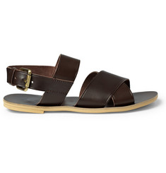Acne Fibbia Leather Strap Sandals