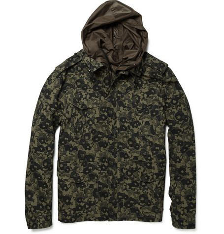Acne Alexander Textured Cotton Camouflage Jacket