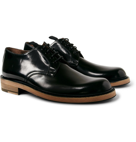 Acne Bleeker Hbone Contrast-Sole Derby Shoes