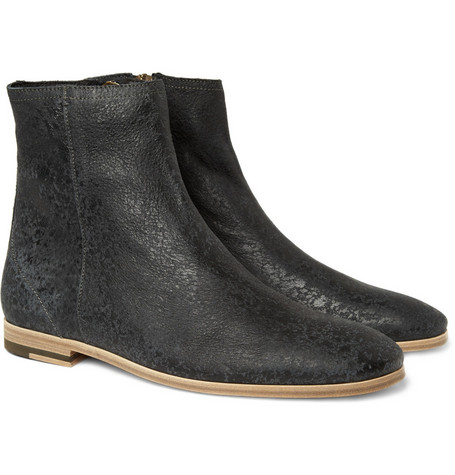 Acne Niels Distressed Suede Boots